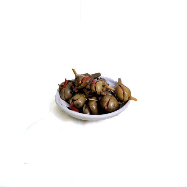 Aubergine marinée d'Almagro farcie au poivron