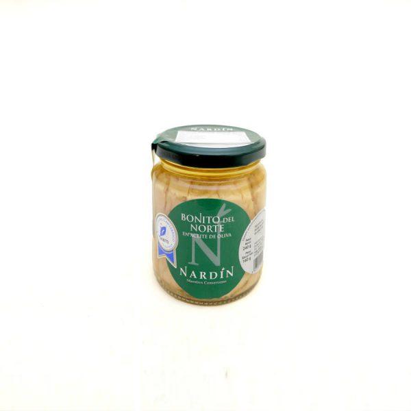 Longes de Bonite du Nord à l'huile d'olive sélection 240gr bocal verre