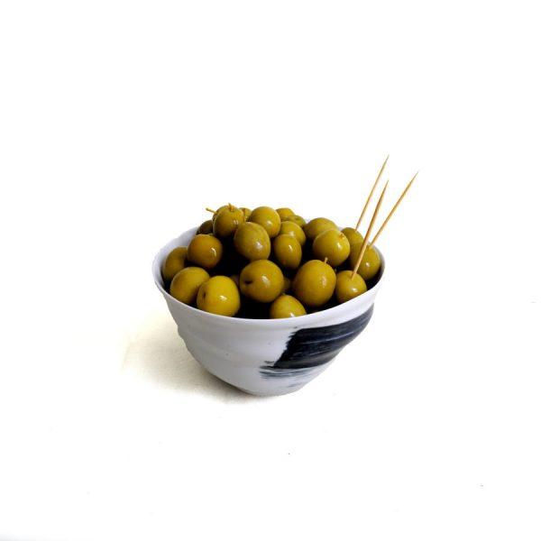 Olive jaune Manzanilla marinée à l'anchois