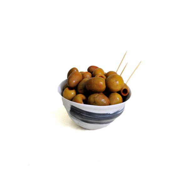 Olive verte « Gordal » sauce à l'aubergine d'Almagro