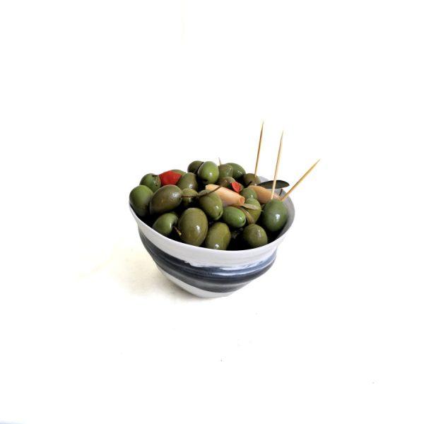 Olive verte Pico limón boisée à l'ail