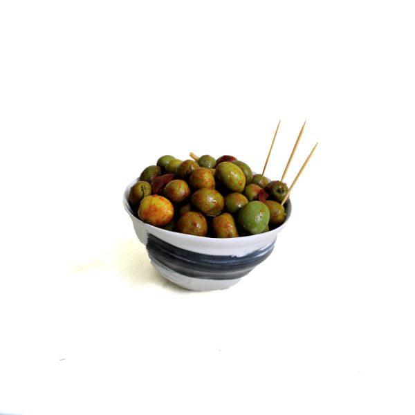 Olive verte Verdial piment doux et piquant