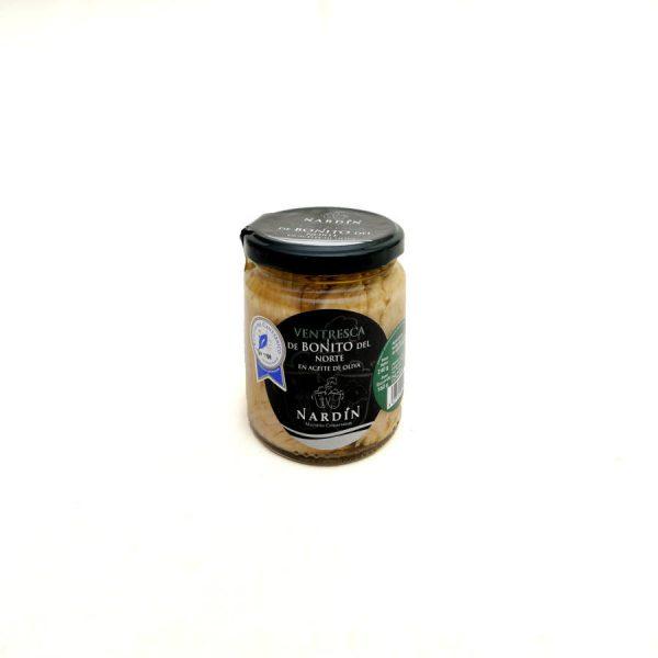 Ventrèche de Bonite du Nord à l'huile d'olive sélection 240 gr bocal verre