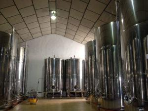 Salle de stockage de l'huile d'olive