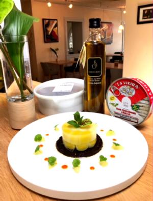 Sardines de Galice et poireaux en salade avec les produits Zabal'oil